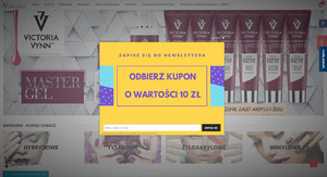 makitu.pl - popup z newsletterem